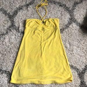 f7eb24e60a6 Ralph Lauren Swim - Ralph Lauren Bright Yellow Terry Halter Cover Up